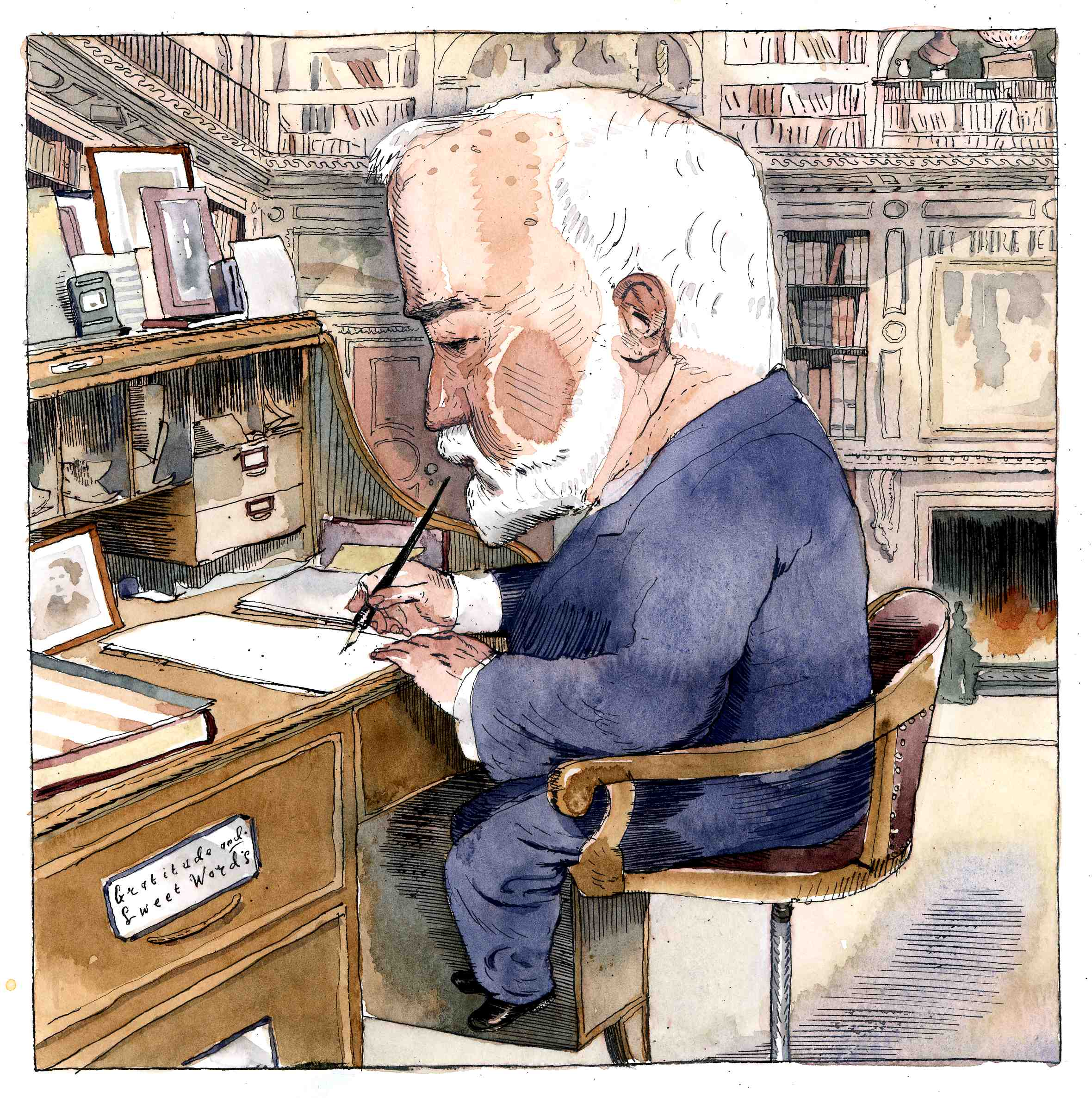 Carnegie by Barry Blitt